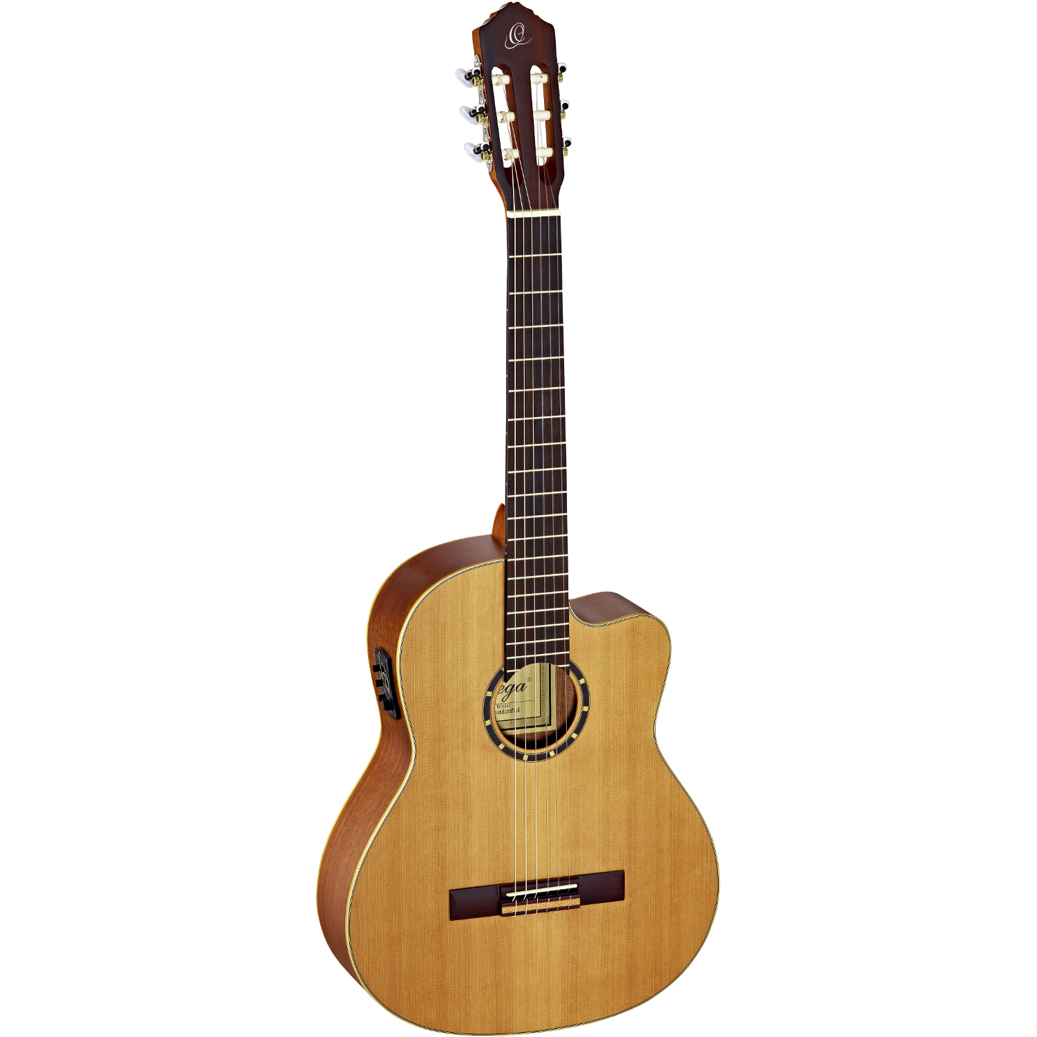 Ortega RCE131 Family Pro electro acoustic classical guitar, natural, with gig bag and strap