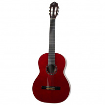 Ortega Family Series R121 classical guitar, wine red, with gig bag