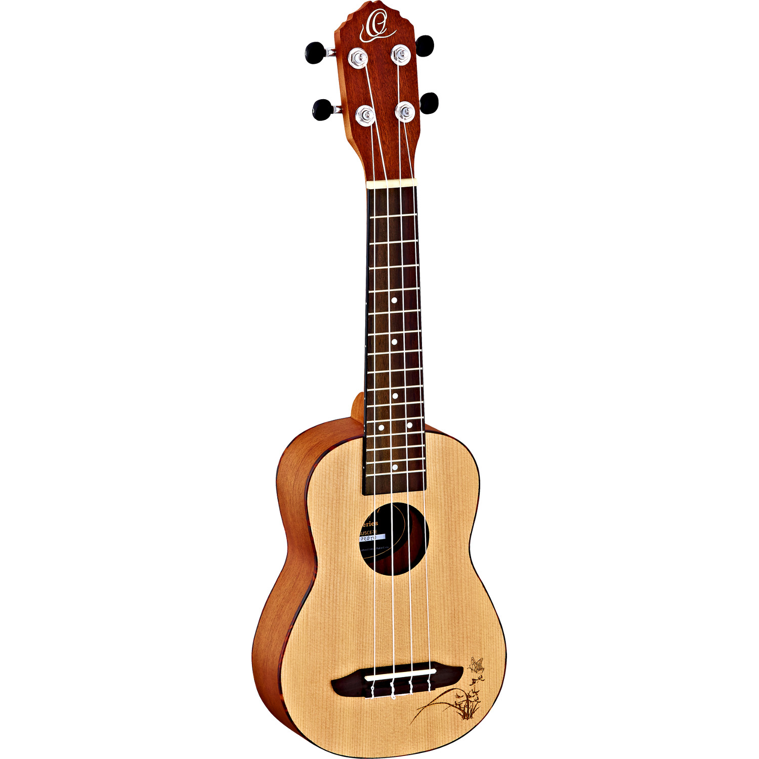 Ortega Bonfire Series RU5 SO soprano ukulele, natural