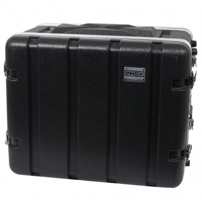 Innox ABS-8-8U 19-inch ABS double-door flight case, 8U, shallow
