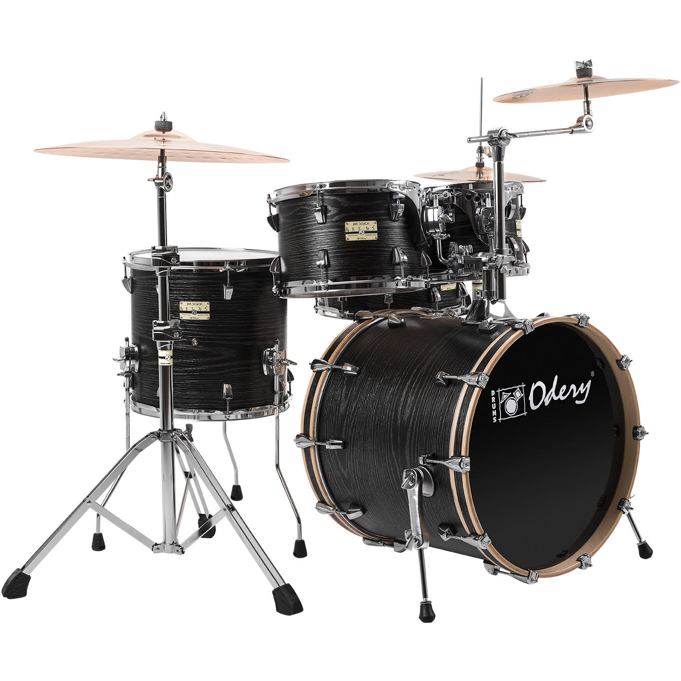 Odery FL180 Jam Session Black Ash 5 piece shell set with hardware
