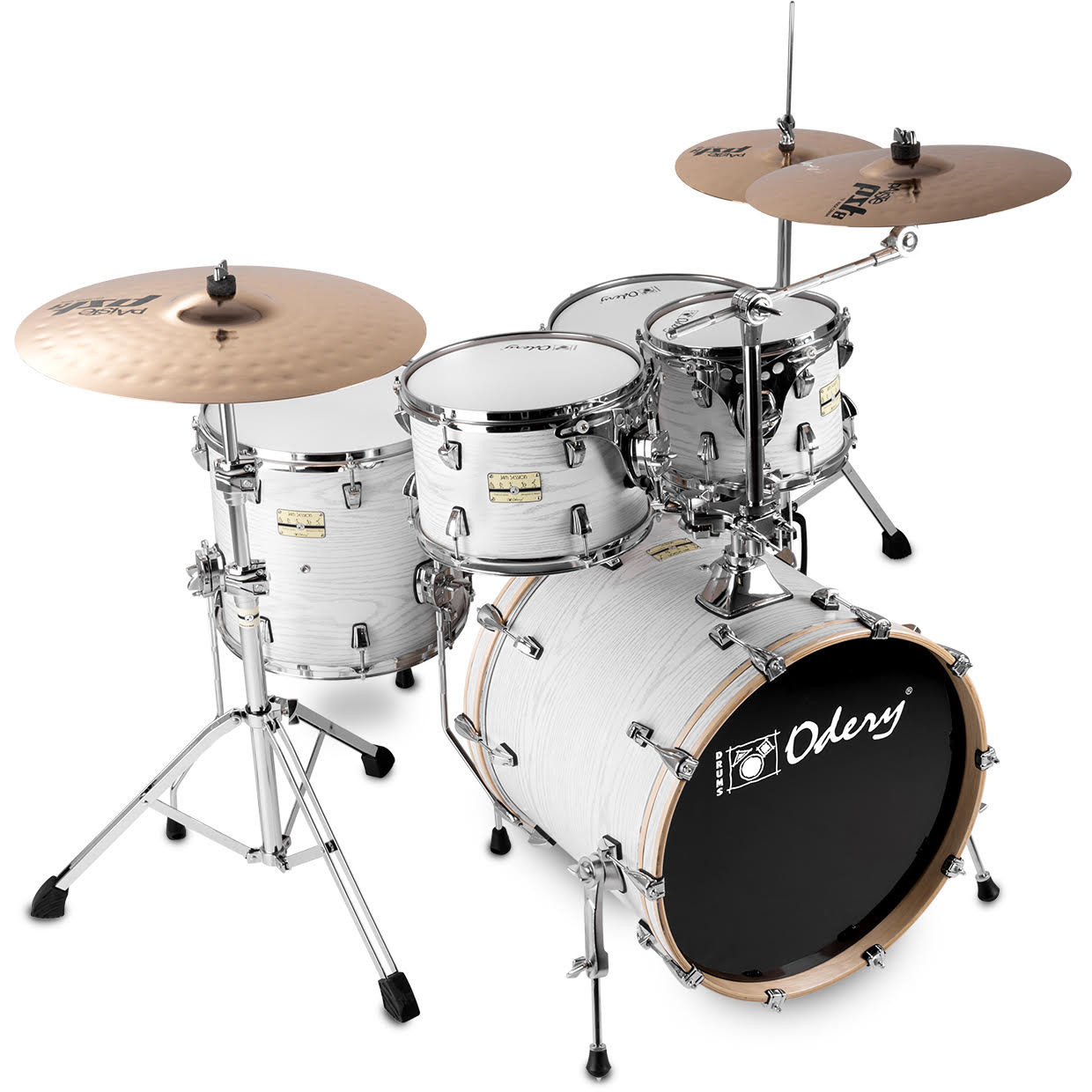 Odery FL200 Jam Session White Ash 5 piece shell set with hardware