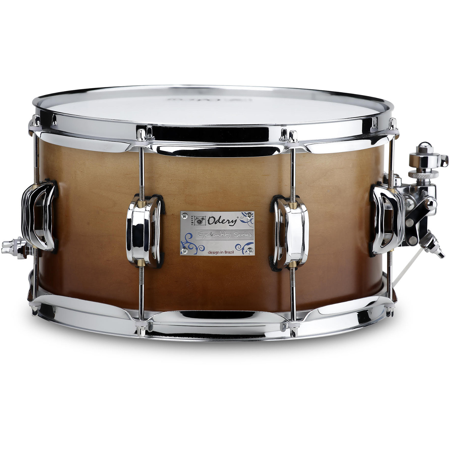 Odery Eyedentity 12 x 6.5 inch maple snare drum, Imbuia Fade
