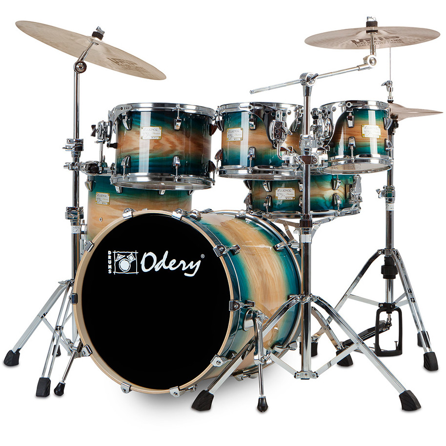 Odery Fusion 101 Blue Burst 6 piece shell set incl. hardware