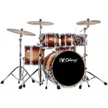 Odery Fusion 201 Dark Wine 6-piece shell set incl. hardware