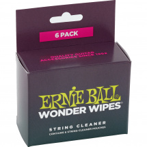 Ernie Ball 4277 Wonder Wipes String Cleaner 6-Pack Saitenreiniger (6 Stk.)
