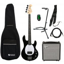 Fazley FMS300BK bass guitar starter set, black