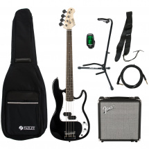 Fazley B200BK bass guitar starter set, black