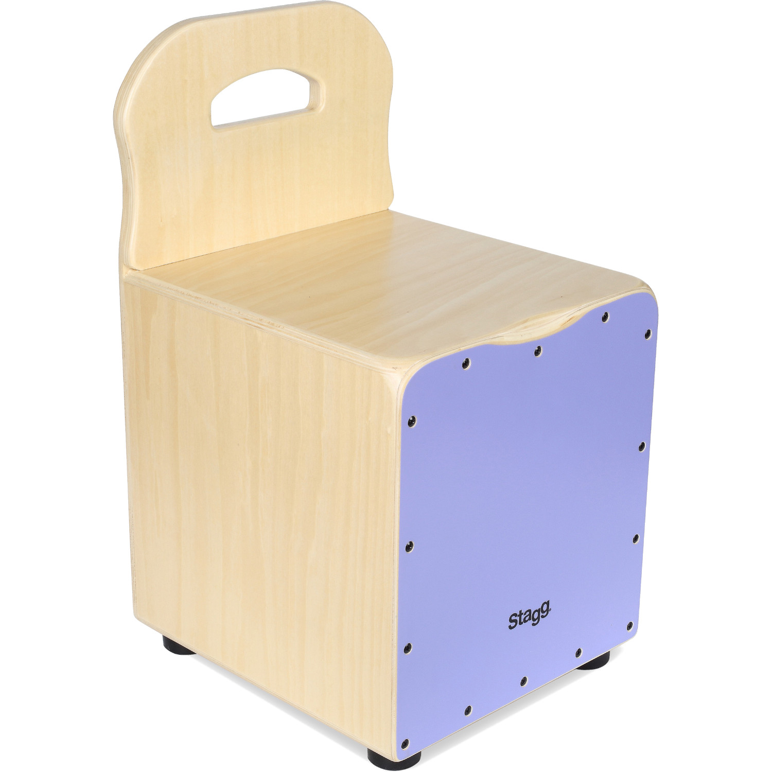 Stagg CAJ KID PP children's cajon with back support, purple