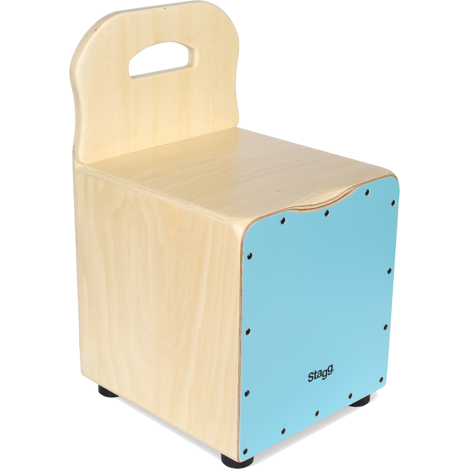 Stagg CAJ KID BL children's cajon with back support, blue
