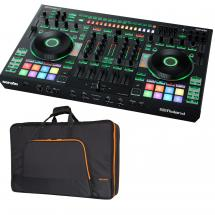 Roland DJ-808 DJ controller + flight bag