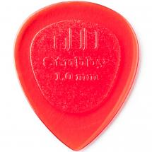 Dunlop Stubby Jazz Plektrum, 1 mm, rot