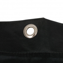 Buhnenmolton Voile 44 tight theatre backdrop with rings, 400 x 400