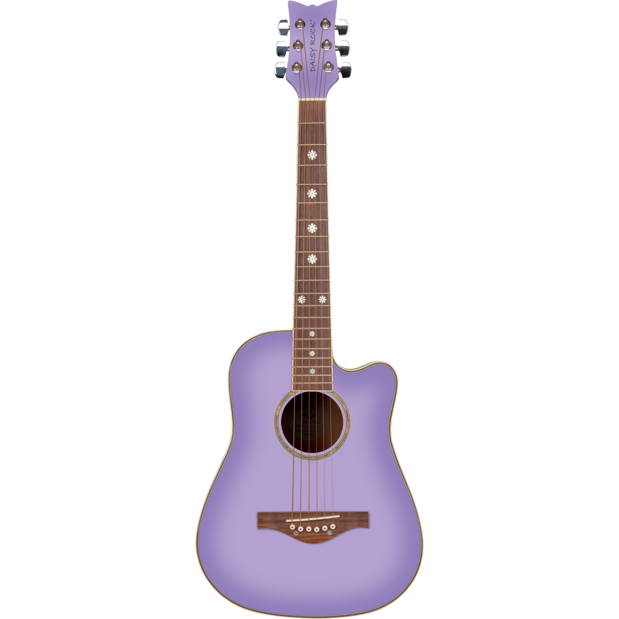Daisy Rock Wildwood Acoustic 3 4 acoustic guitar, Purple Daze