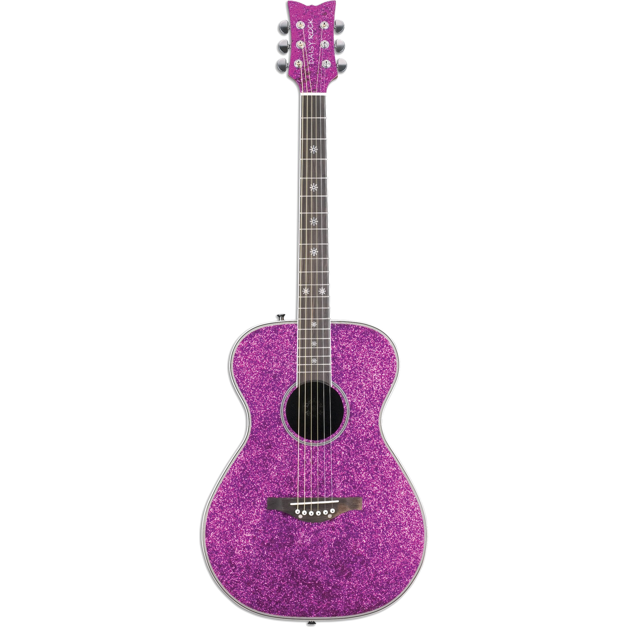 Daisy Rock Pixie Acoustic Pink Sparkle steel string guitar