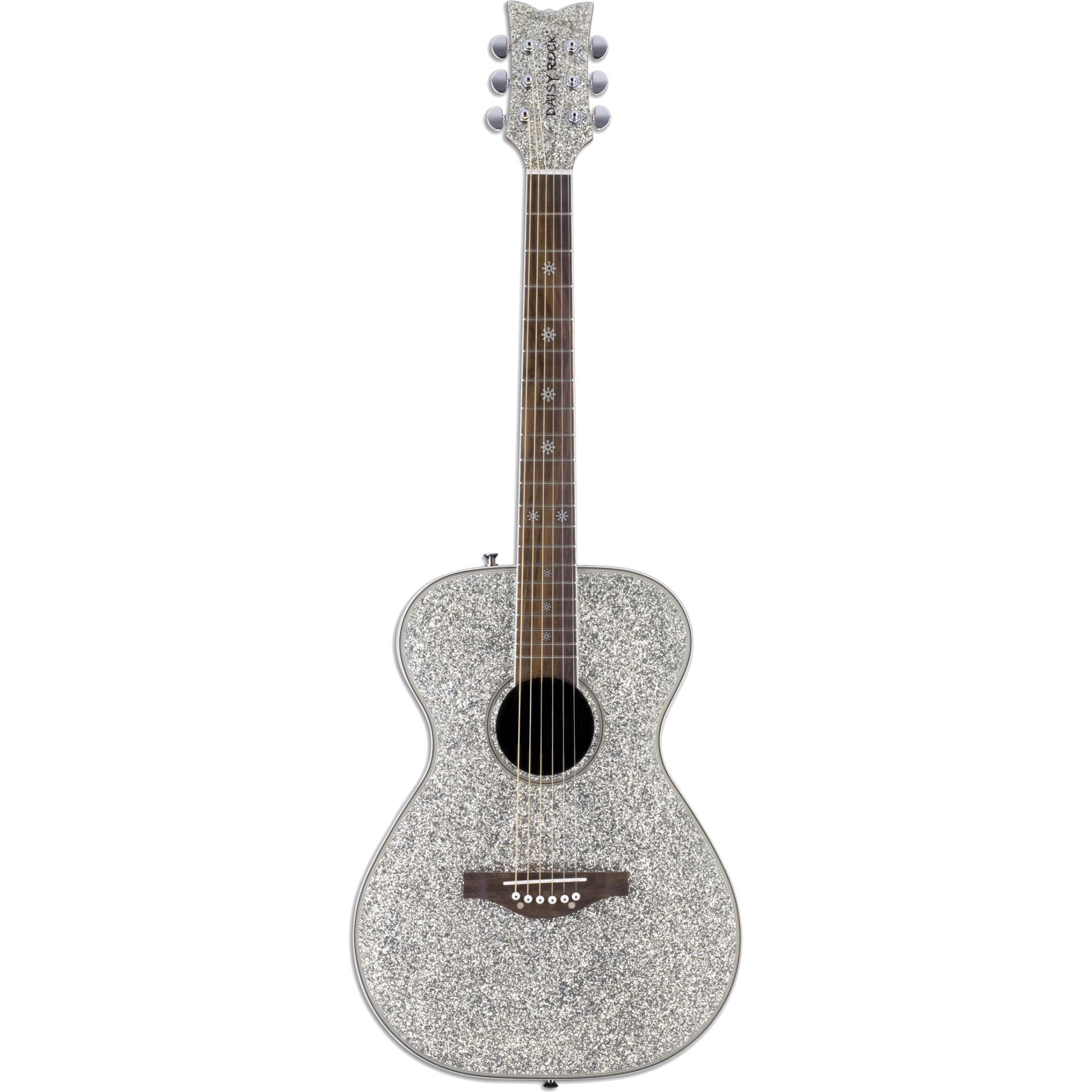 Daisy Rock Pixie Acoustic Silver Sparkle steel string guitar