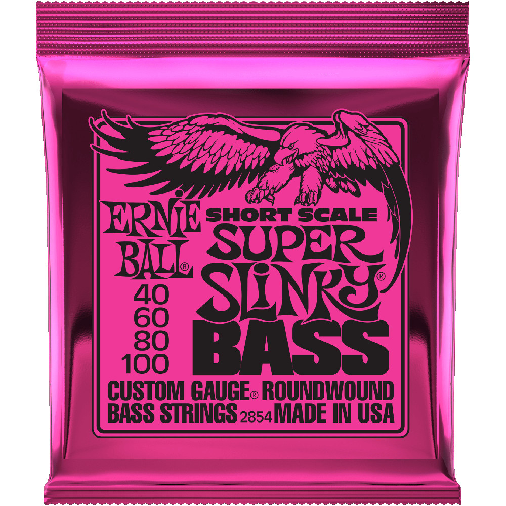 Ernie Ball 2854 Short Scale Nickel Wound Super Slinky Bass
