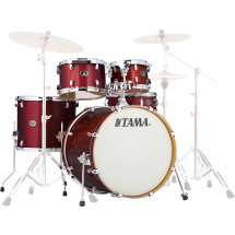 Tama VD52KRS-DRP Silverstar 5-piece shell set, Dark Red Sparkle