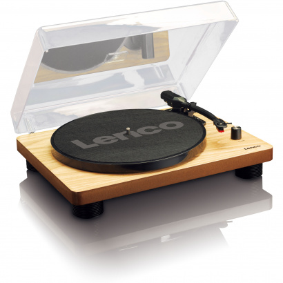 (B-Ware) Lenco LS-50WD Wood USB record player