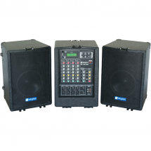 Skytec PA-100USB speaker set incl. mixer/media player, 2 x 600 W