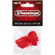 Dunlop Jazz III Red Nylon 6er Pack Plektren