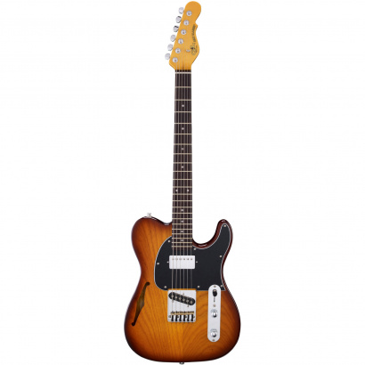 (B-Ware) G&L Tribute ASAT Classic Bluesboy Semi-Hollow Tobacco Sunburst, E-Gitarre