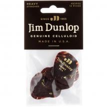 Dunlop Celluloid Shell Heavy 12-pack Plektren (12 Stück)