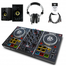 Numark Party Mix DJ starter set with monitors and headphones
