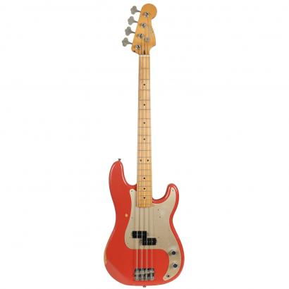 Fender Road Worn 50s Precision Bass Fiesta Red MN