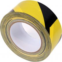 Innox ETA WARN-01 gaffa tape, 50 mm x 25 m, black/yellow stripes