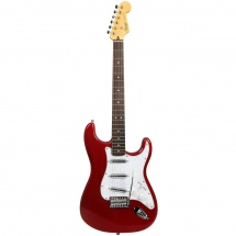 Squier Vintage Modified Surf Stratocaster Candy Apple Red E-Gitarre, rot