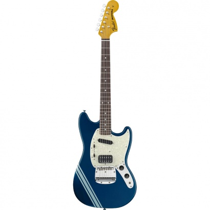 Fender Kurt Cobain Mustang Dark Lake Placid Blue with Stripe