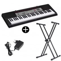 Casio CTK-1500 61-note keyboard with stand and adapter