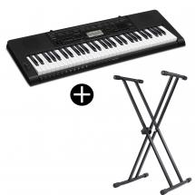 Casio CTK-3500 keyboard with 61 keys including stand