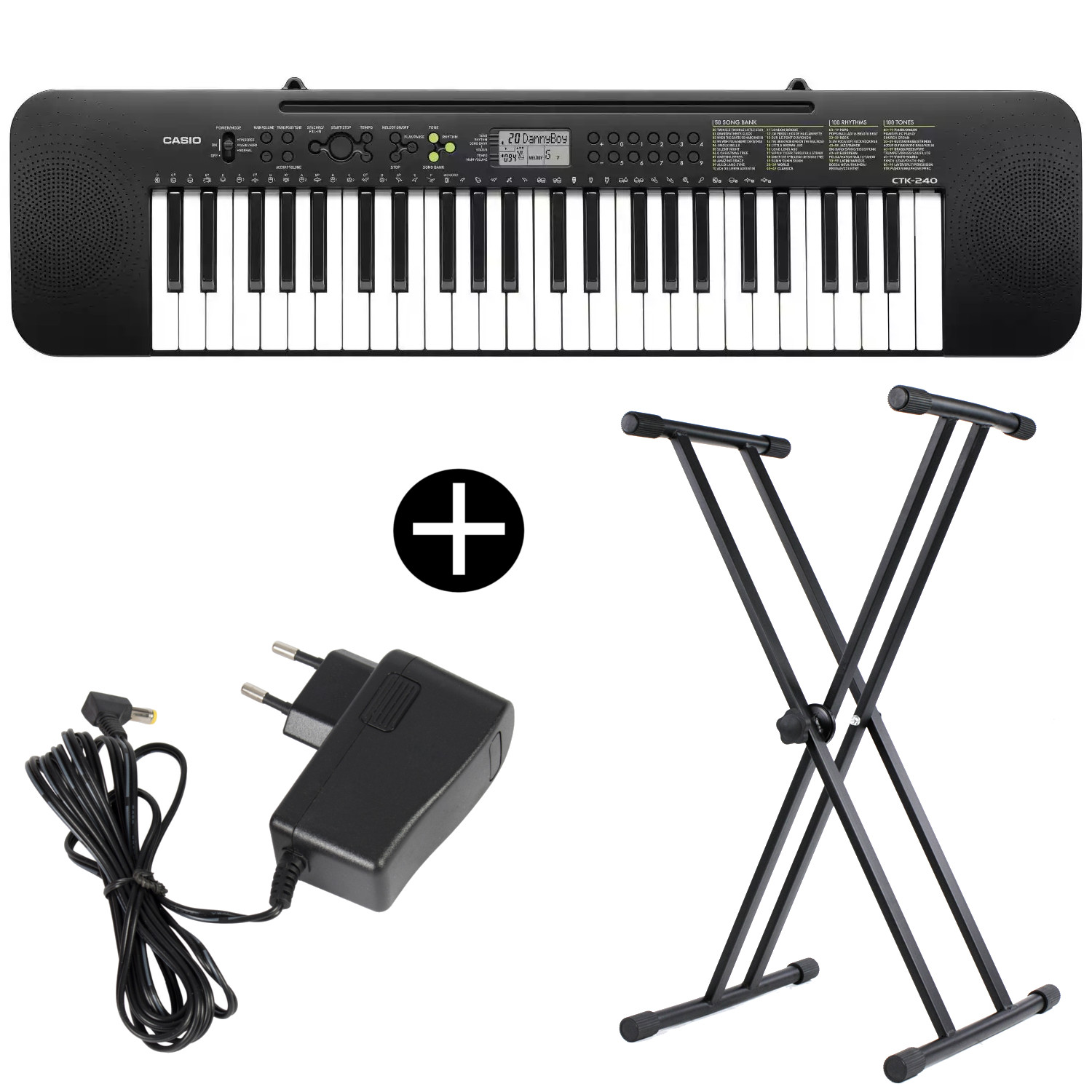 Casio CTK 240 keyboard with stand