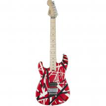 EVH Striped Series Red, Black and White LH MN guitar