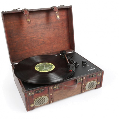 Fenton RP140 record player in leather case