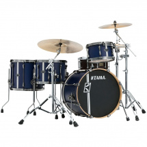 Tama ML40HZBN2-SBV Superstar HD Duo Snare Satin Blue shell set