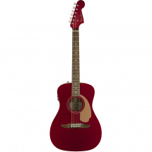 Fender Malibu Player Candy Apple Red electro-acoustic guitar