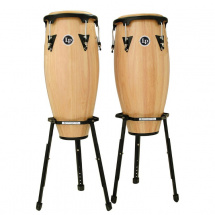 Latin Percussion LPA646B-AW LP Aspire Wood Congas 10+11 & Stand