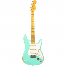 (B-Ware) Fender Custom Shop Limited 1956 Relic Strat  Faded Foam Green