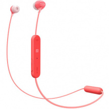 Sony WI-C300 Bluetooth in-ear headphones, red
