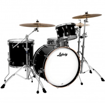 Ludwig NeuSonic DownBeat 20 Black Cortex 3-piece shell set