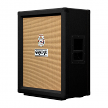 Orange PPC212V 2x12 vertical speaker cabinet, black