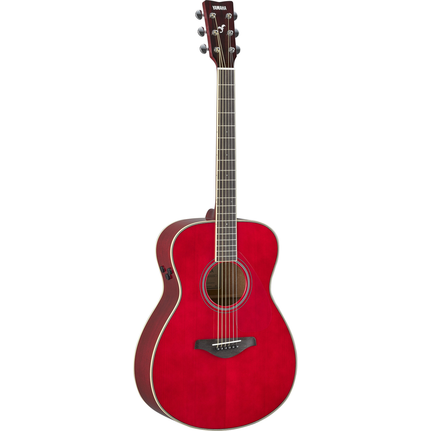 Yamaha FS TA TransAcoustic Ruby Red electro acoustic guitar
