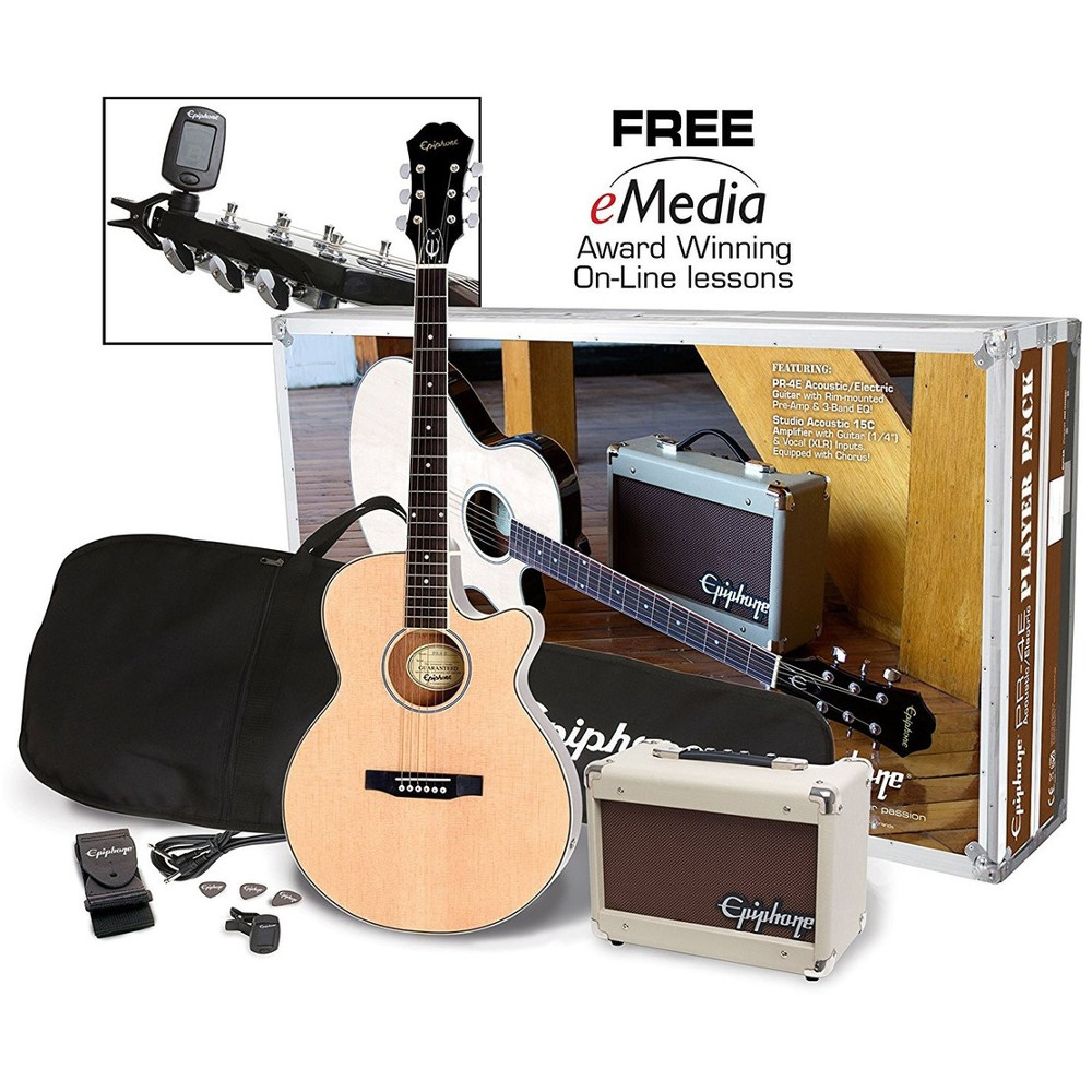 Epiphone PR 4E Acoustic Electric Player Pack Natural starter set