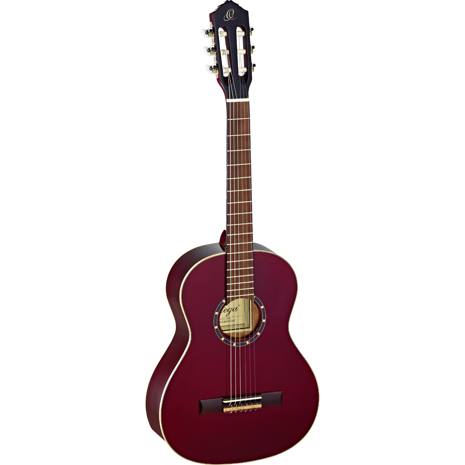 Ortega Family Series R121 3 4 wine red with gig bag
