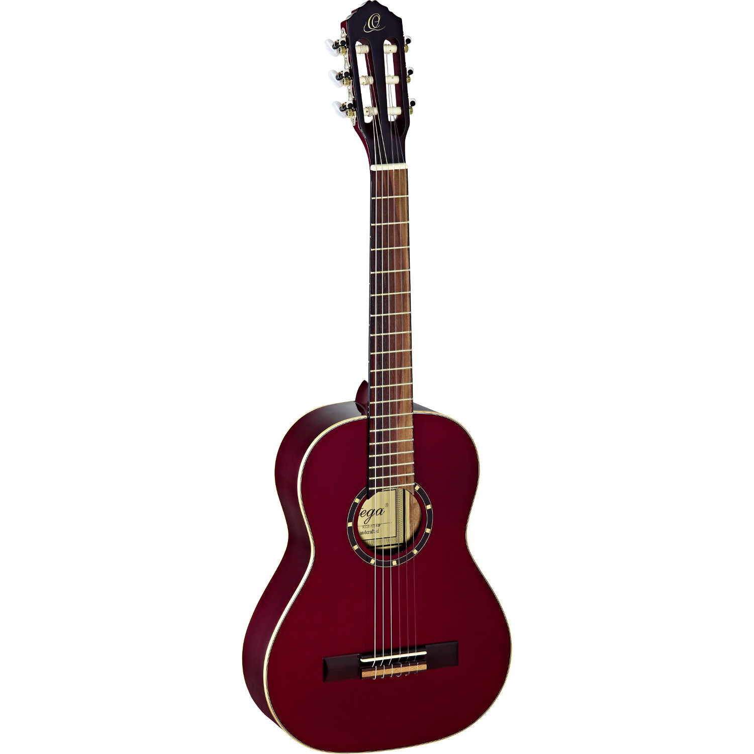 Ortega Family Series R121 1 2 wine red with gig bag