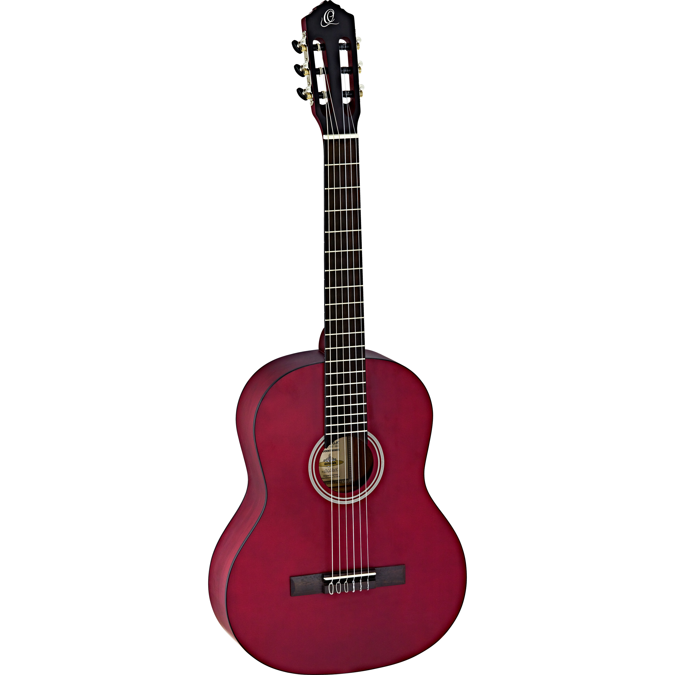 Ortega Student Series RST5M full size classical guitar, red