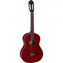Ortega Family Series R121SN classical guitar, wine red, with gig bag